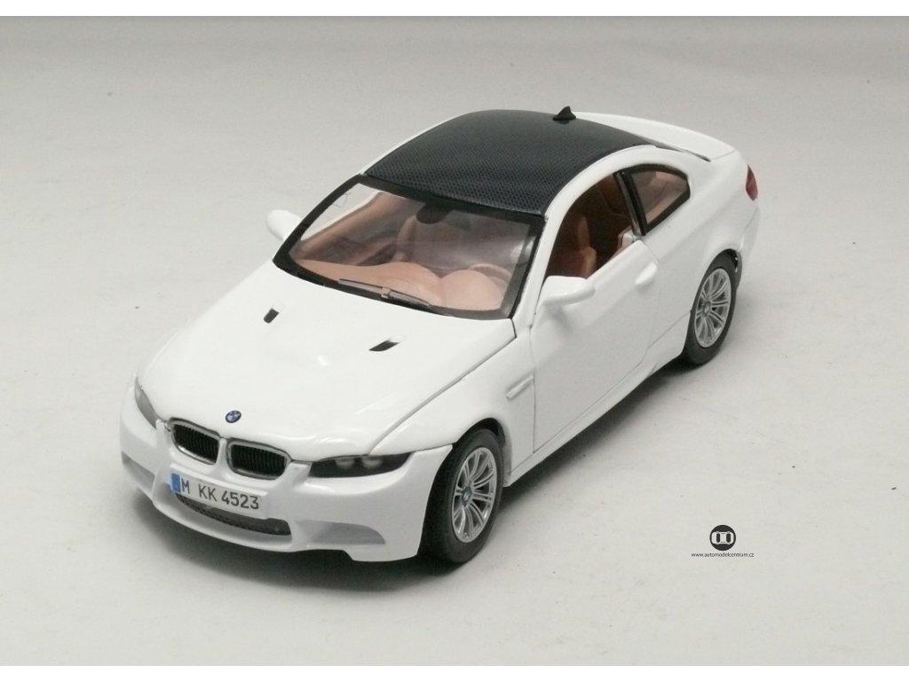 BMW M3 Coupe 2008 bílá 1:24 Motor Max