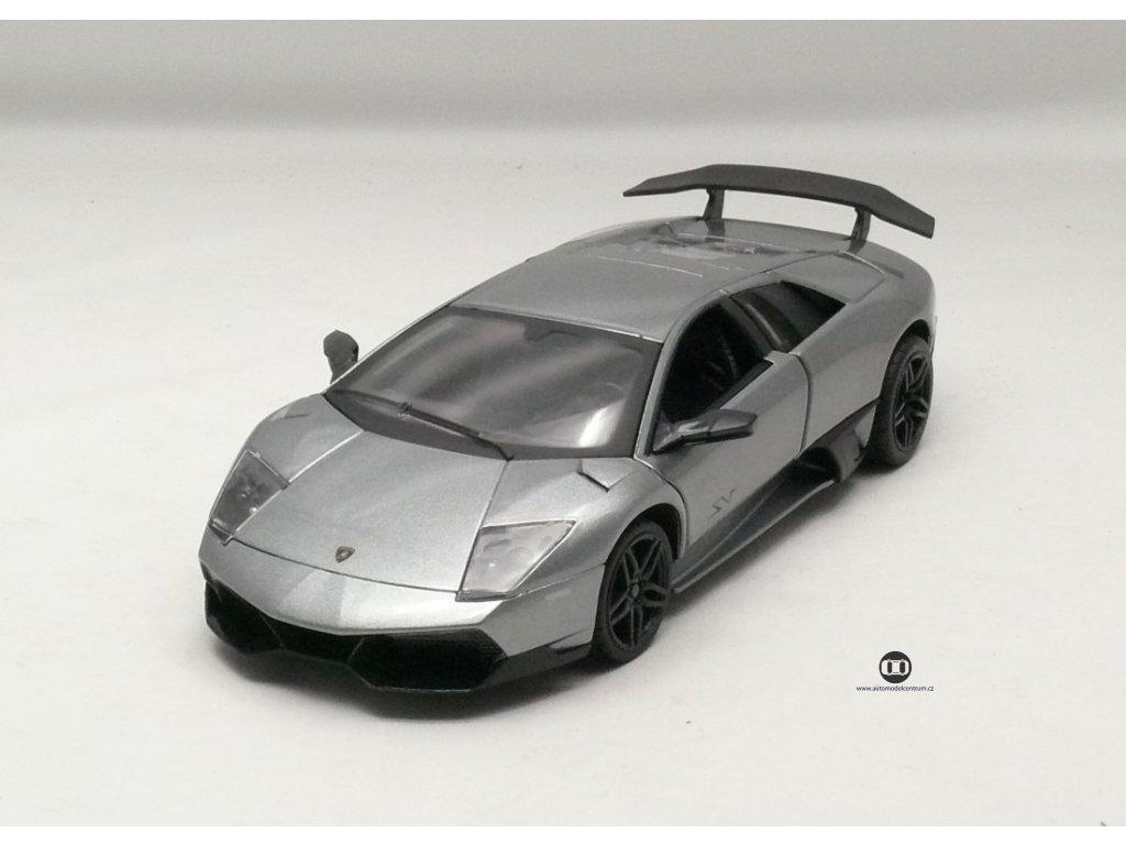 Lamborghini LP 670-4 SV 2013 šedá met. 1:24 MZ Model