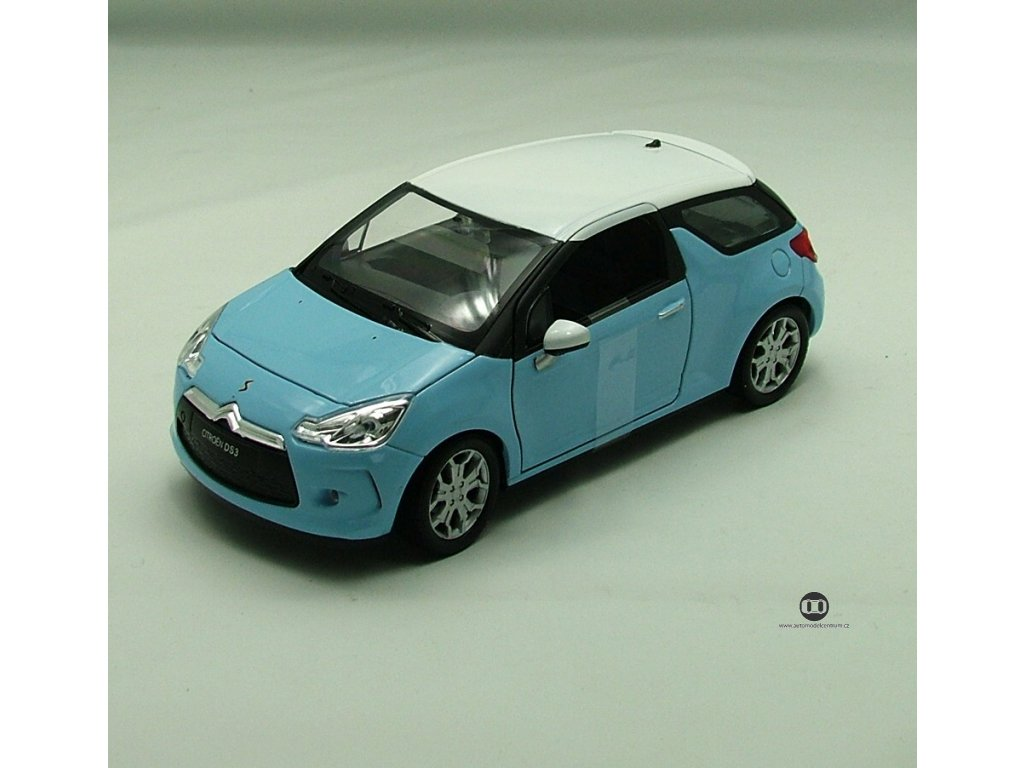 Citroen DS 3 2010 modrá 1:24 Welly