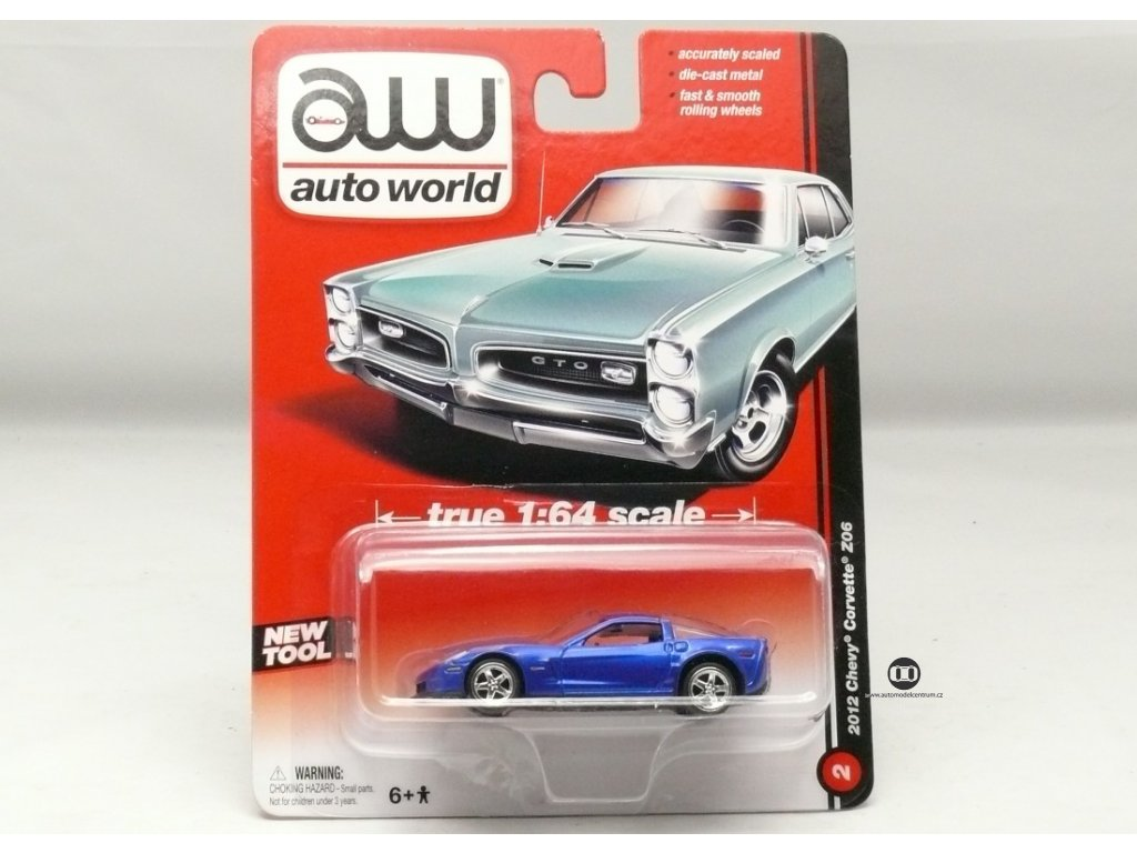 Chevrolet Corvette Z06 2012 modrá 1:64 Auto World