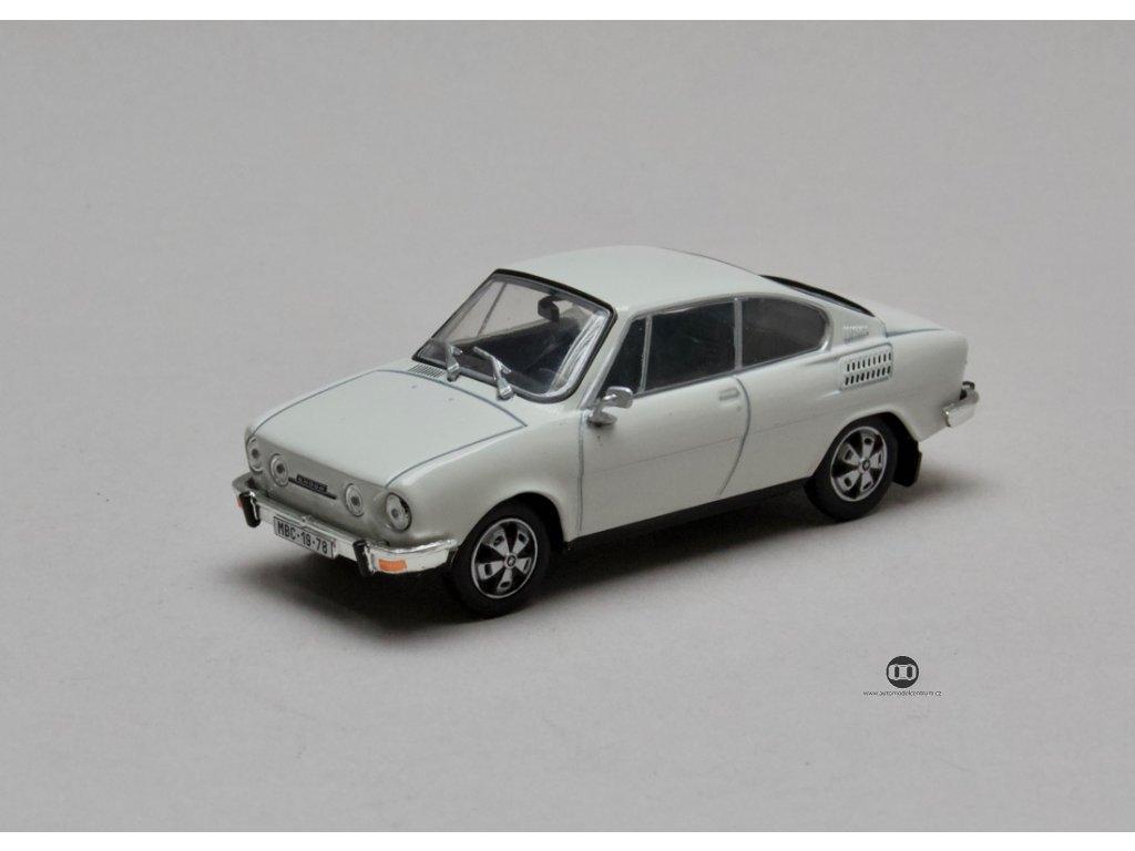 Škoda 110R Coupé 1980 šedobílá 1:43 Abrex