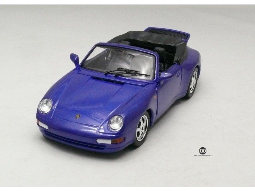 Porsche 911 Carrera Cabriolet modrá 1:24 Bburago
