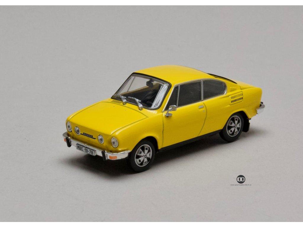 Škoda 110R Coupé 1980 žlutá sluneční 1:43 Abrex