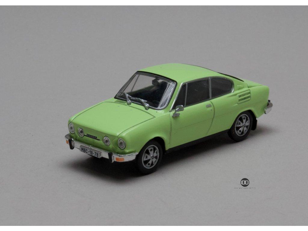 Škoda 110R Coupé 1980 zelená lipová 1:43 Abrex