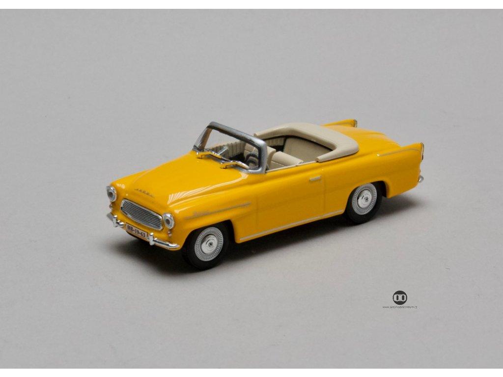 Škoda Felicia Roadster 1963 žluto-oranžová 1:43 Abrex