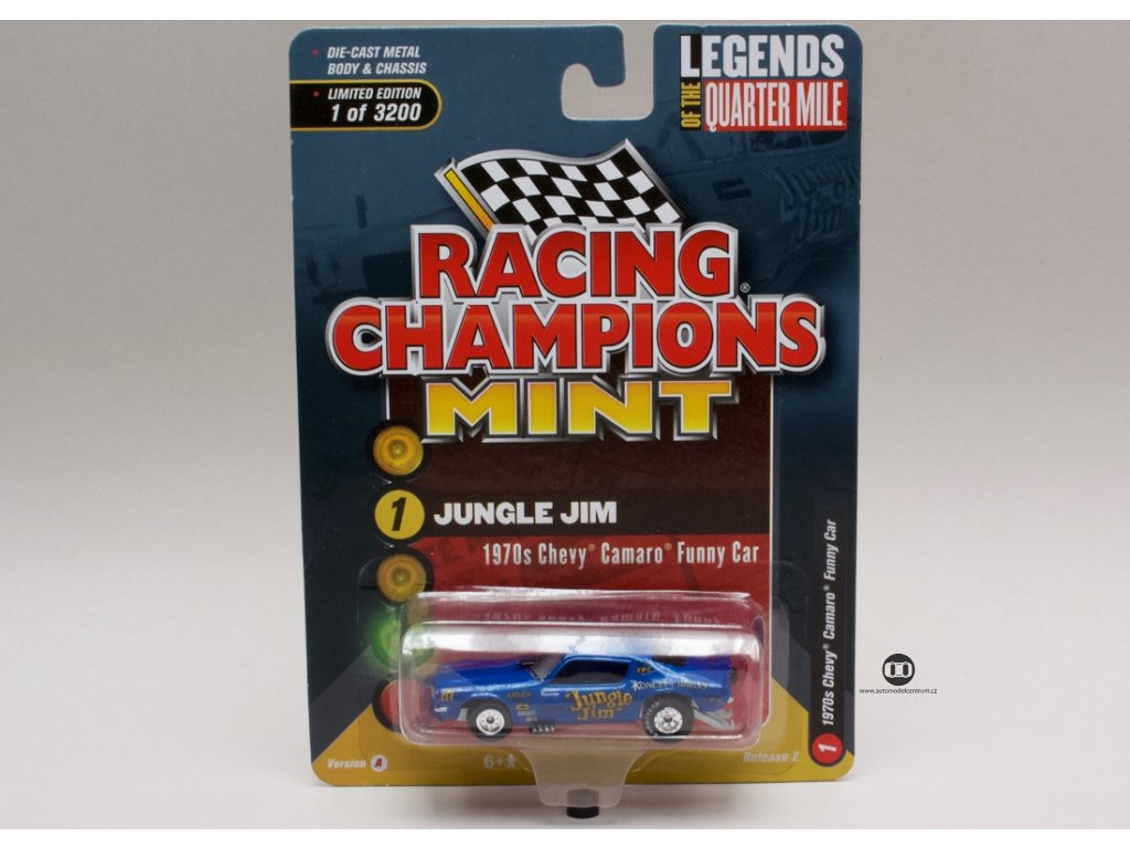 Chevrolet Camaro 1970s Funny Car Jungle Jim 1:64 Racing Champions