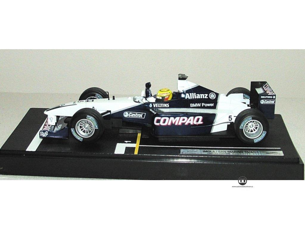 BMW Williams F1 VC Imola 2001 1:18 Hot Wheels