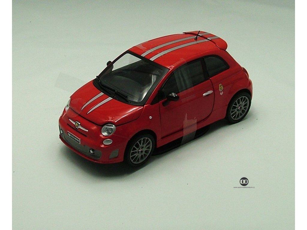 Fiat Abart 695 tributo Ferrari červená 1:24 Mondo Motors