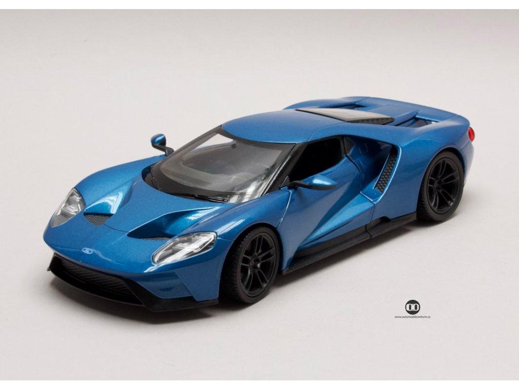 Ford GT 2017 modrá 1:24 Welly