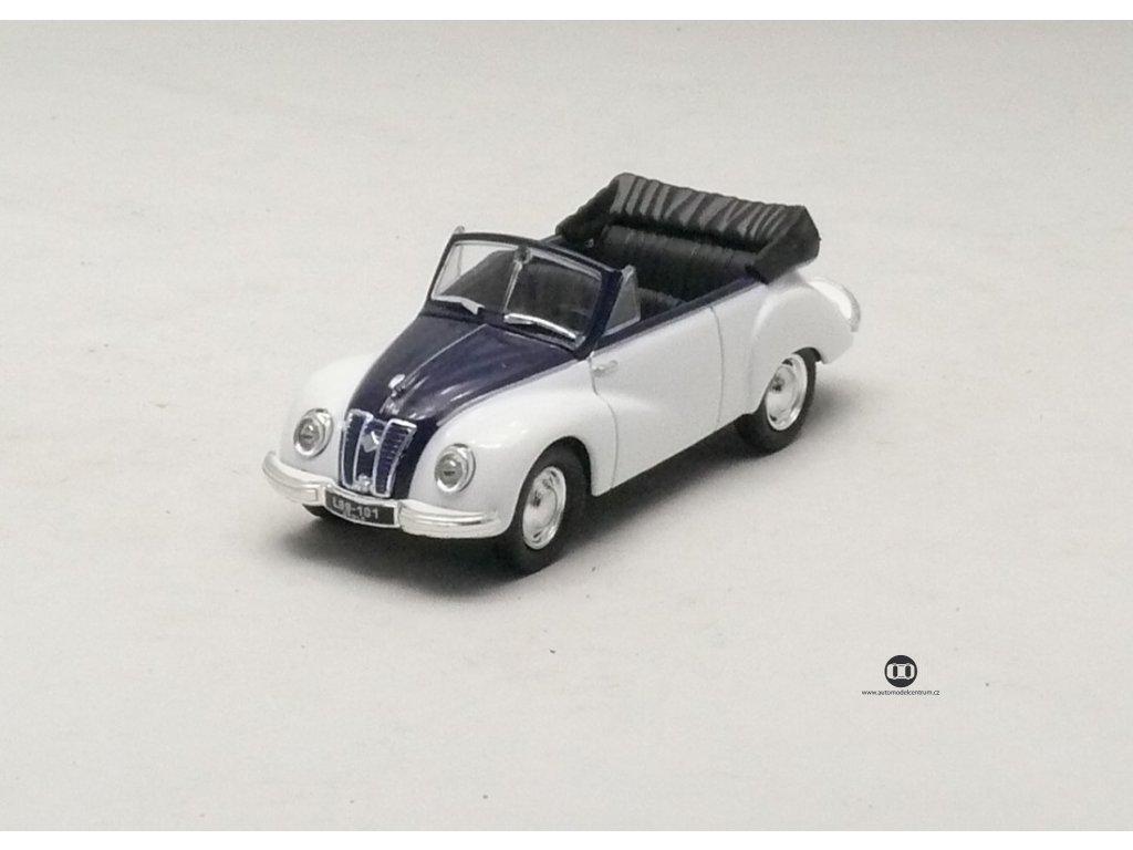 IFA F9 Cabrio 1953 bílo - modrá 1:43 Car Selection