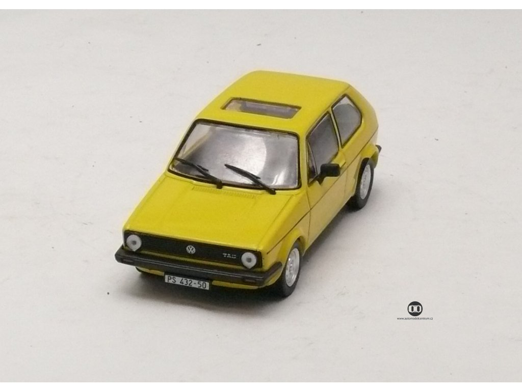VW Golf I JGL 1975 žlutá 1:43 Car Selection