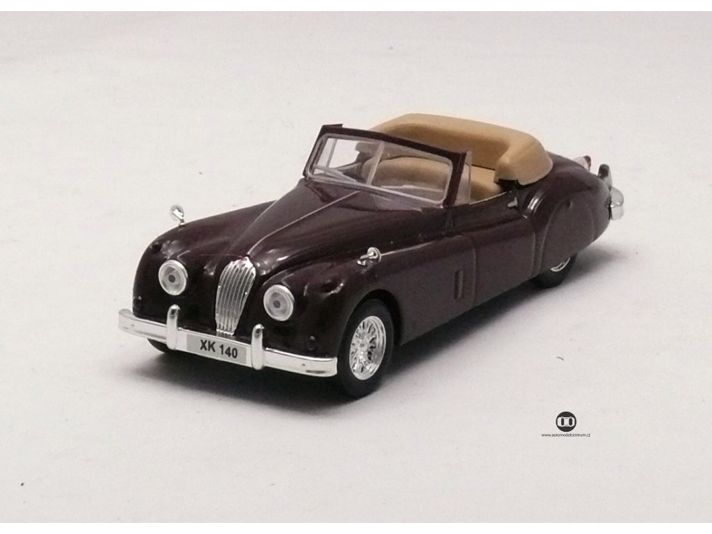 Jaguar XK140 1954-1957 vínovohnědá 1:43 Car Selection