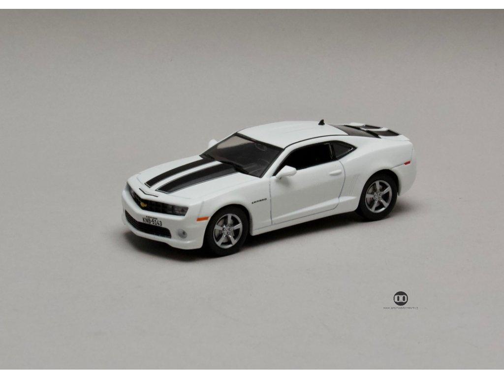 Chevrolet Camaro SS 2011 bílá-černé pruhy 1:43 Champion