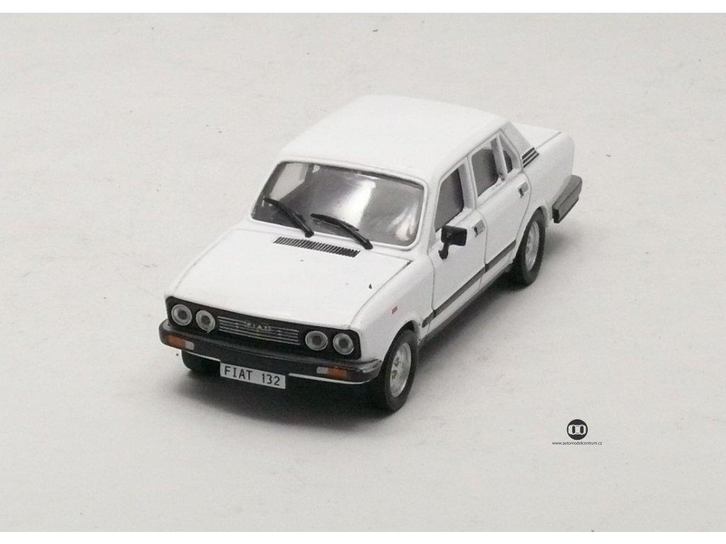 Fiat 132 1972 bílá 1:43 Magazine models