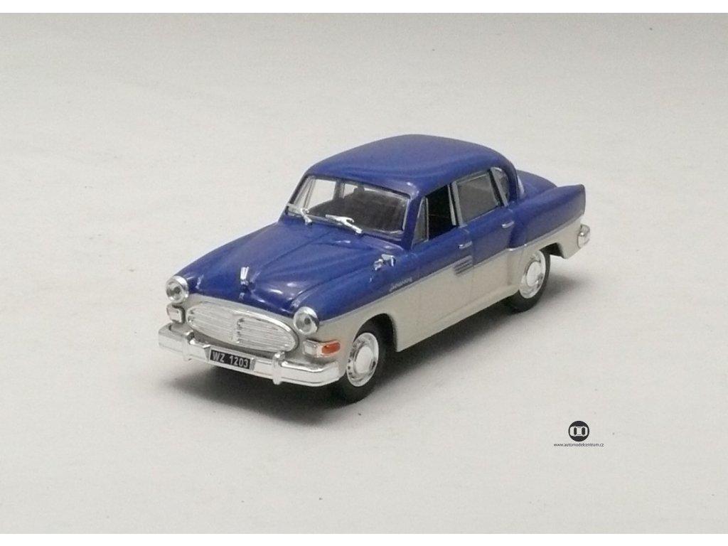 Sachsenring P 240 1955 modro - bílá 1:43 Car Selection