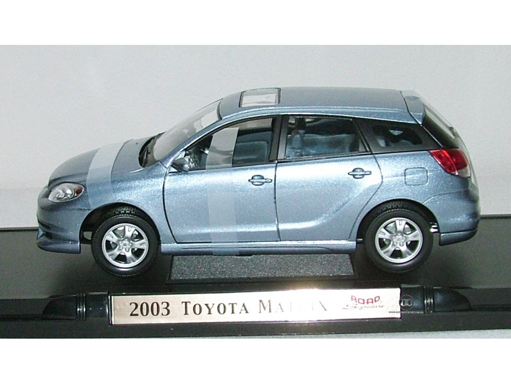 Toyota Matrix 2003 metalíza šedo-modrá 1:18 Yat Ming