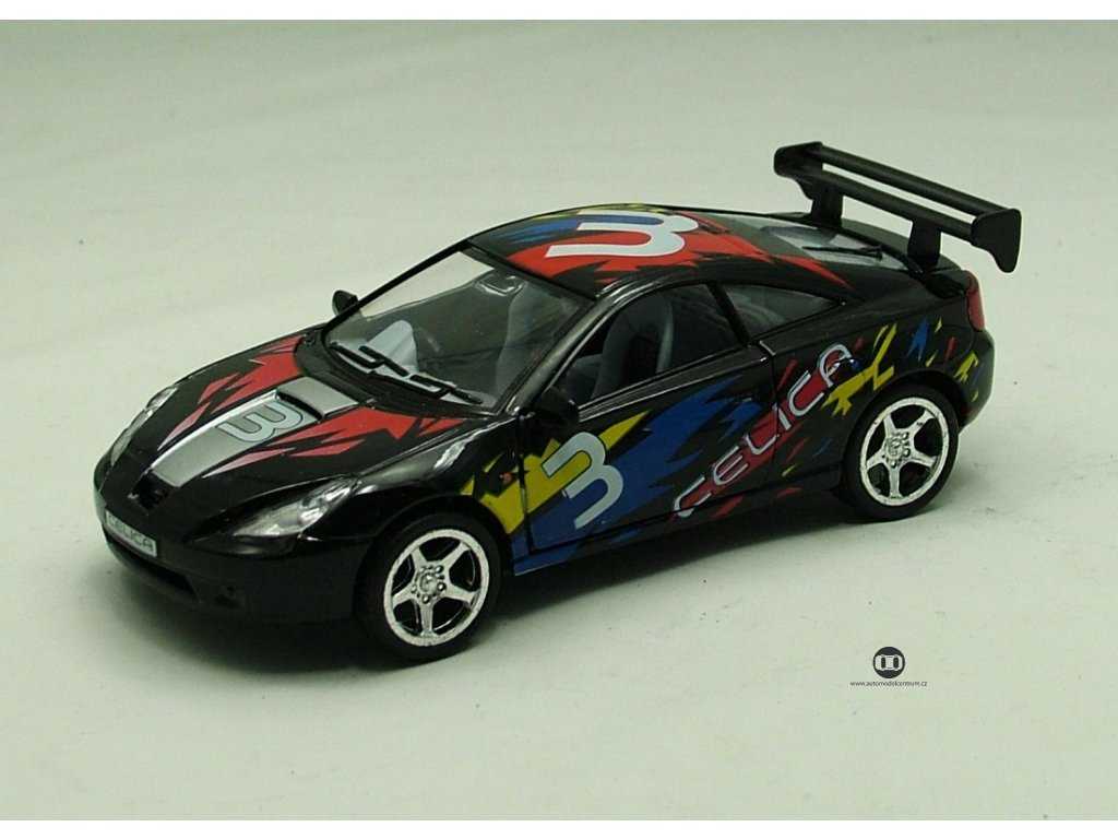 Toyota Celica černá 1:34 Kinsmart