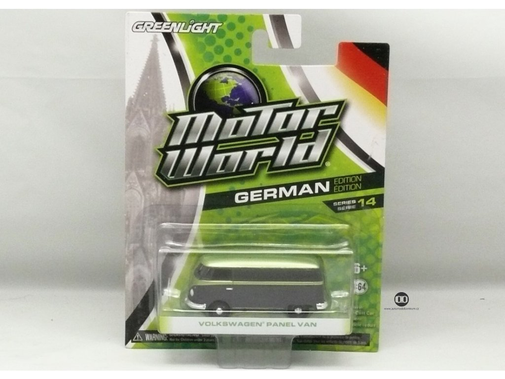 VW Panel Van černo-zelená Motor World 1:64 Greenlight
