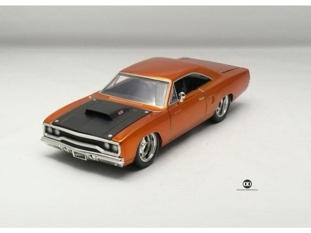 Plymouth Road Runner 1970 Rychle a zb.7 1:24 Jada Toys