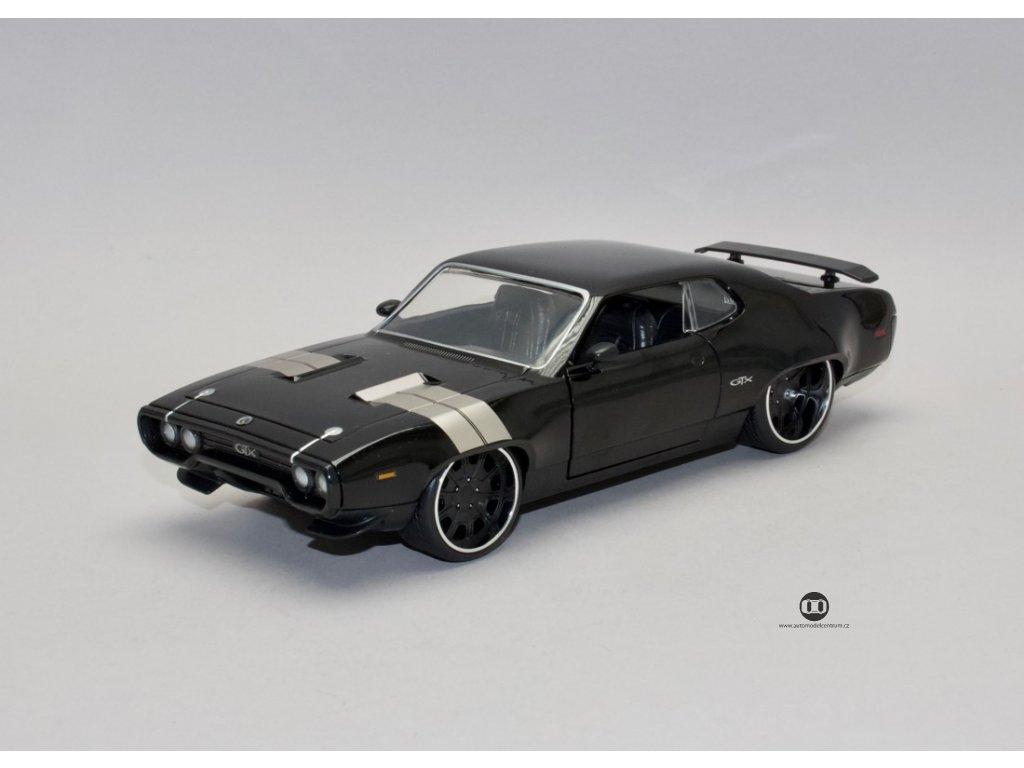 Plymouth GTX 1972 Dom`s Rychle a zb.8 1:24 Jada Toys