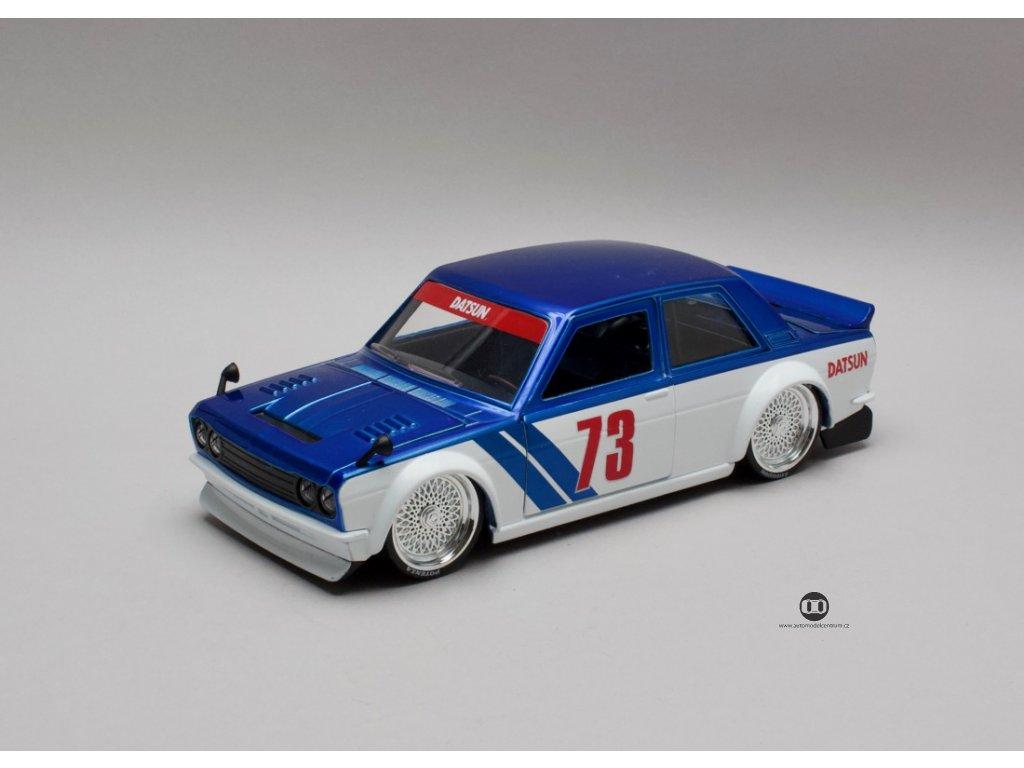 Datsun 510 1973 #73 Widebody modro-bílá 1:24 Jada Toys