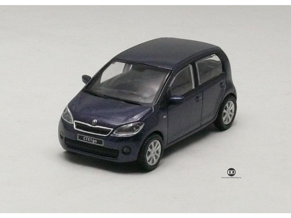 Škoda Citigo 5dv tmavě modrá 1:43 Abrex