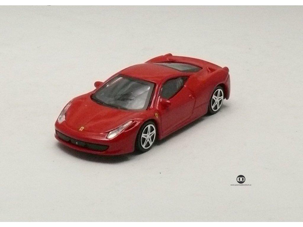 Ferrari 458 Italia červená Race & Play 1:43 Bburago