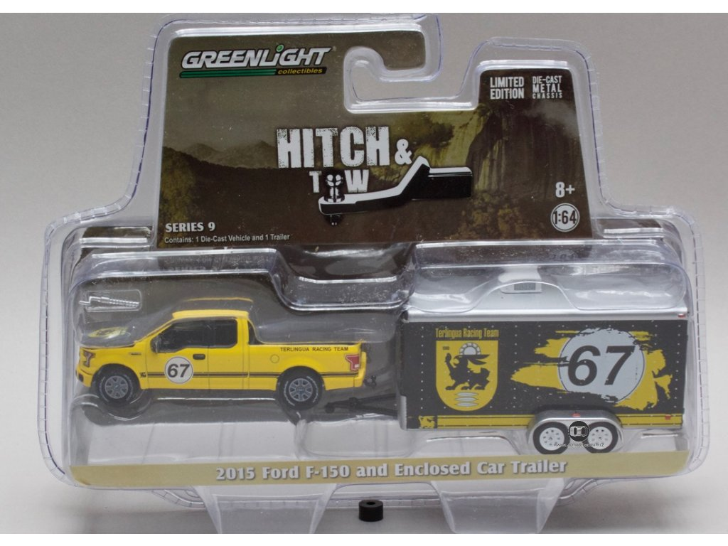 Ford F-150 2015 + Terlingua Racing Trailer 1:64 Grenlight