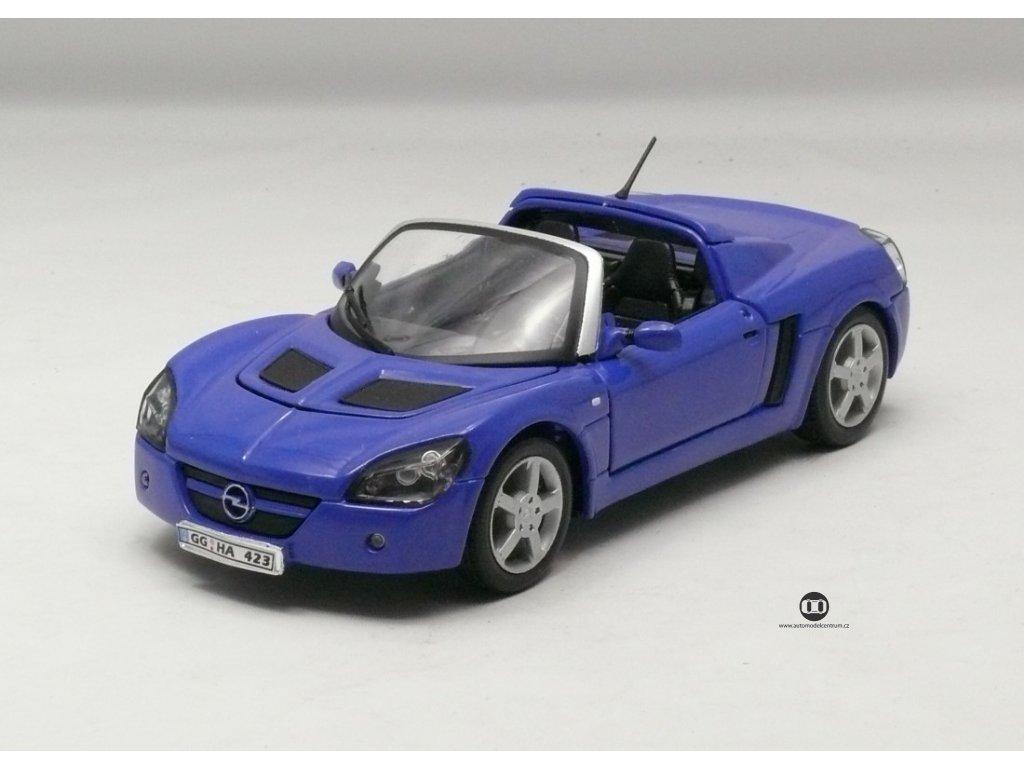 Opel Speedster 2001 modrá 1:24 Welly