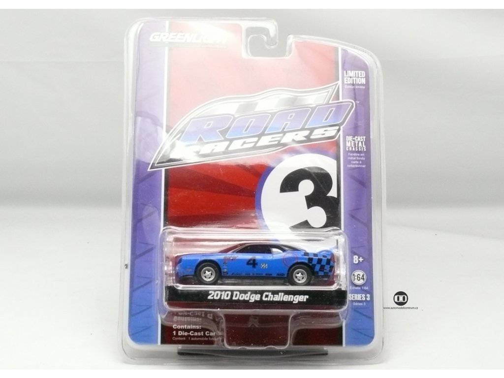 Dodge Challenger 2010 modrá # 4 1:64 Greenlight