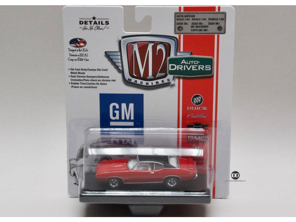 Pontiac GTO 1969 červená 1:64 M2 Machines