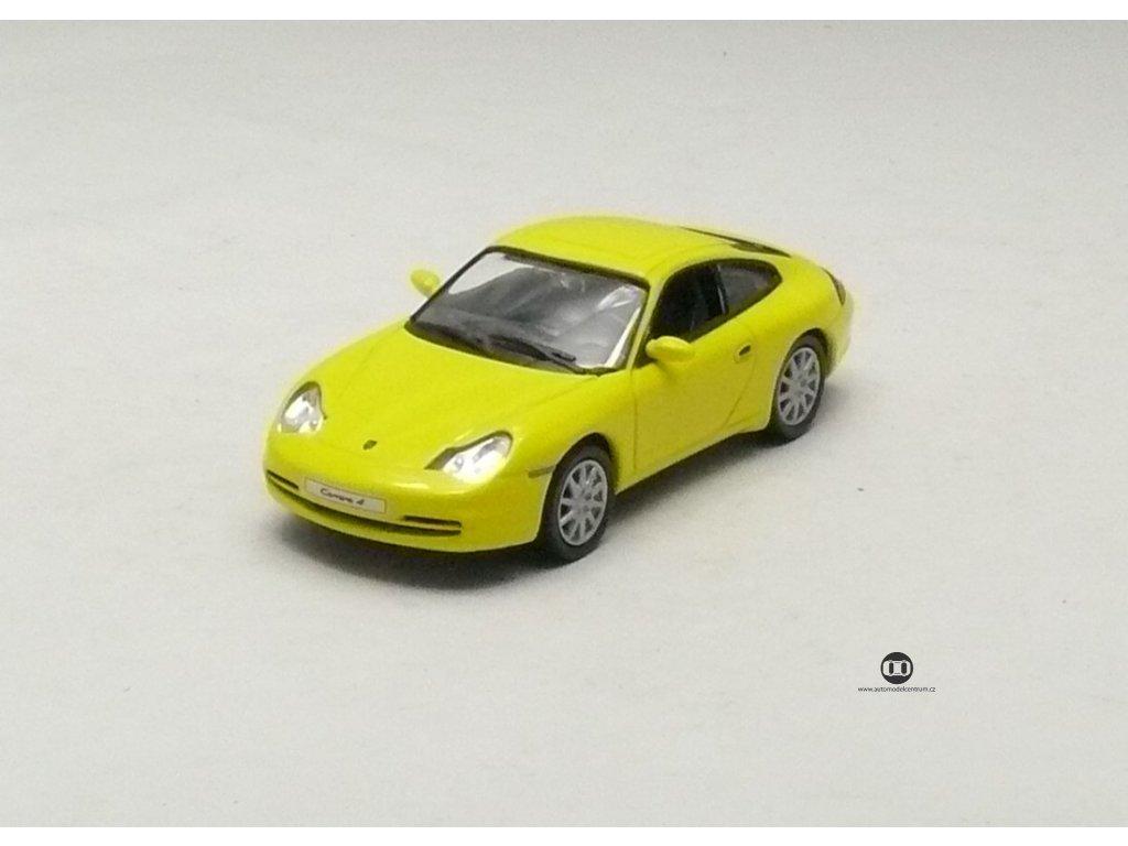 Porsche 911 Carrera 4 Coupe 2001 žlutá 1:43 Car Selection