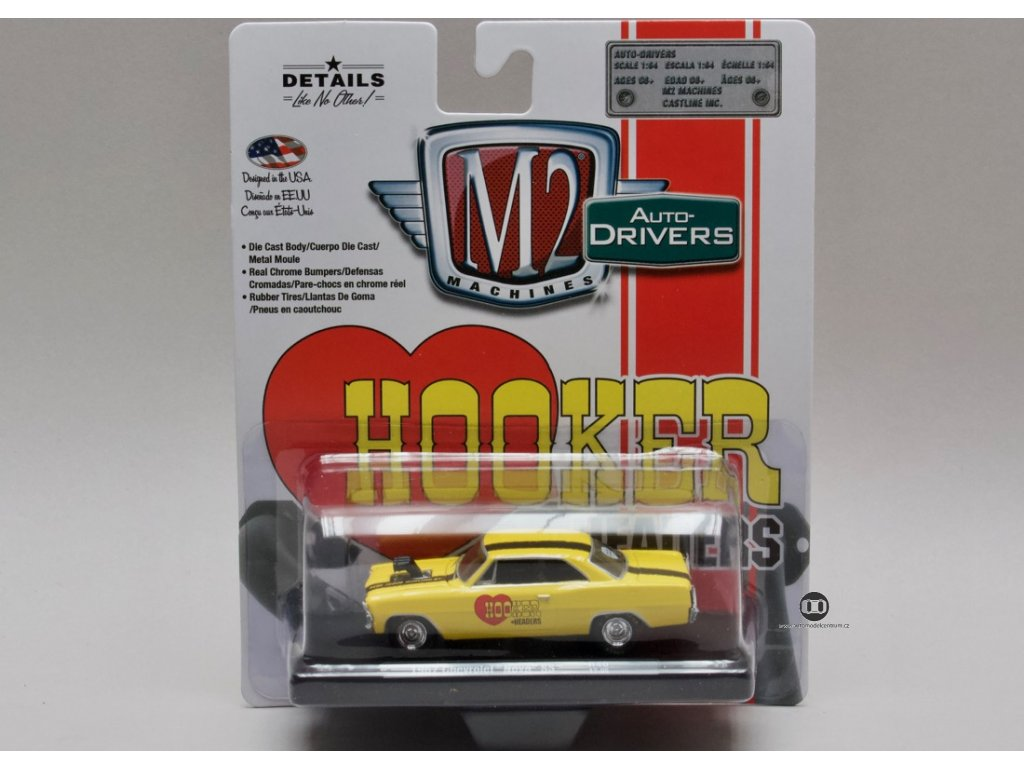Chevrolet Nova SS 1967 Hooker Headers 1:64 M2 Machines