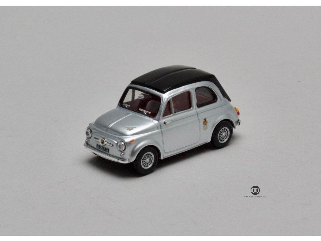Fiat Abarth 695 1964 stříbrno-černá 1:43 Vitesse