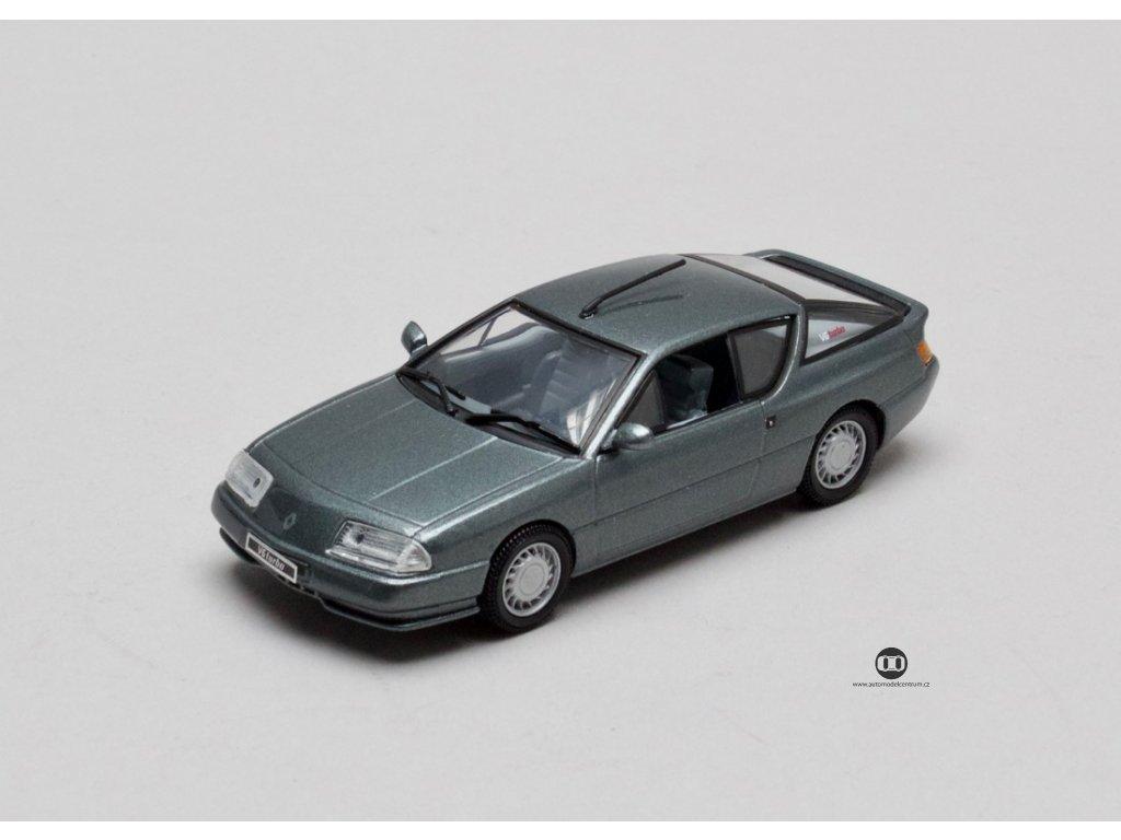 Renault Alpine V6 Turbo metalíza šedá 1:43 Universal Hobbies