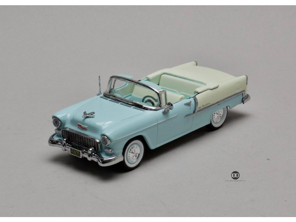 Chevrolet Bal Air 1955 Open Convertible modro-bílá 1:43 Vitesse