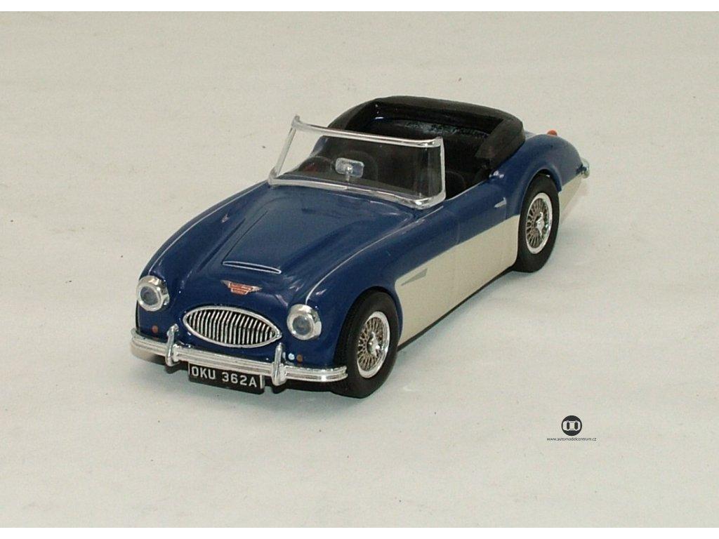 Austin Healey 3000 open 1959 modro-bílá 1:43 Vitesse