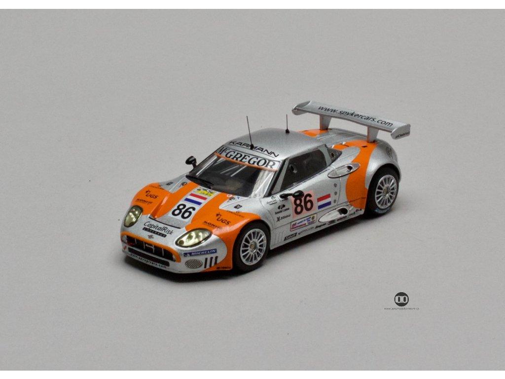 Spyker C8 Spyder GT2-R #86 Le Mans 2006 oran-stř 1:43 IXO