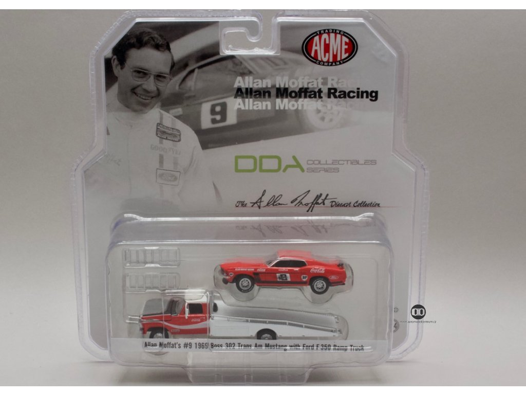 Ford F-350 Ram Truck + ford Mustang #9 Coca cola 1:64 Acme