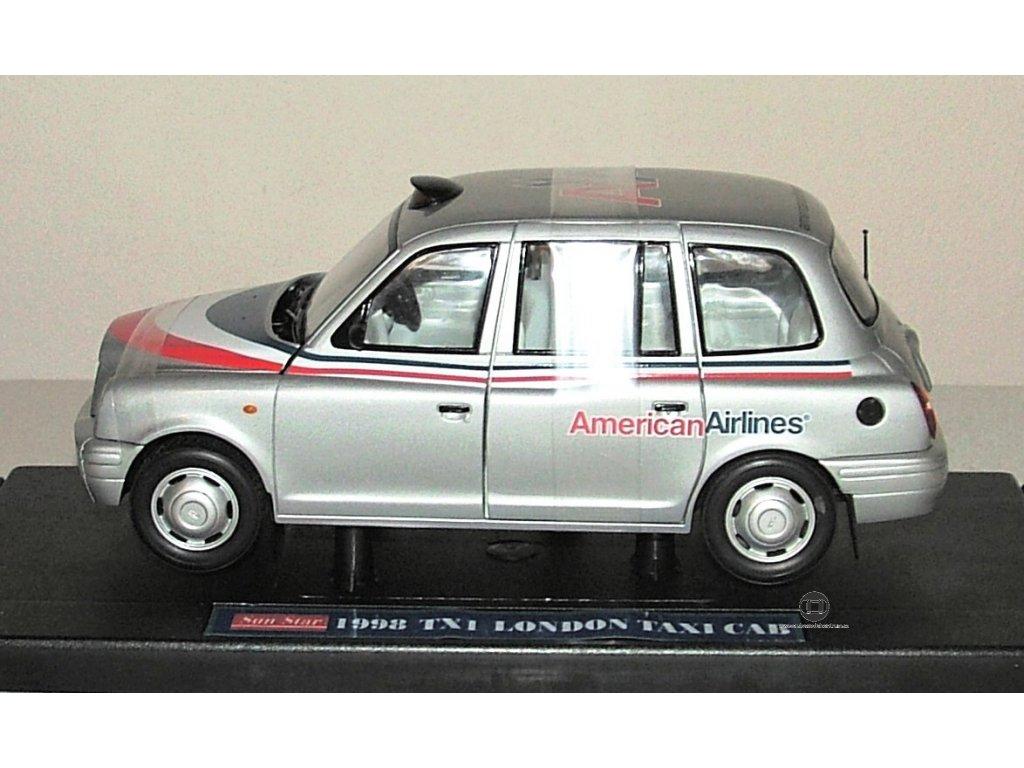 TX1 London Taxi Cab 1998,stříbrná,1:18,Sun Star