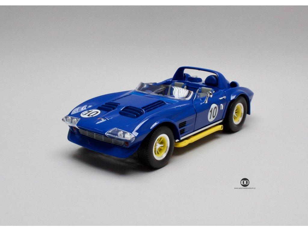 Chevrolet Corvette Grand Sport Roadster 1964 modrá 1:18 Lucky Die Cast