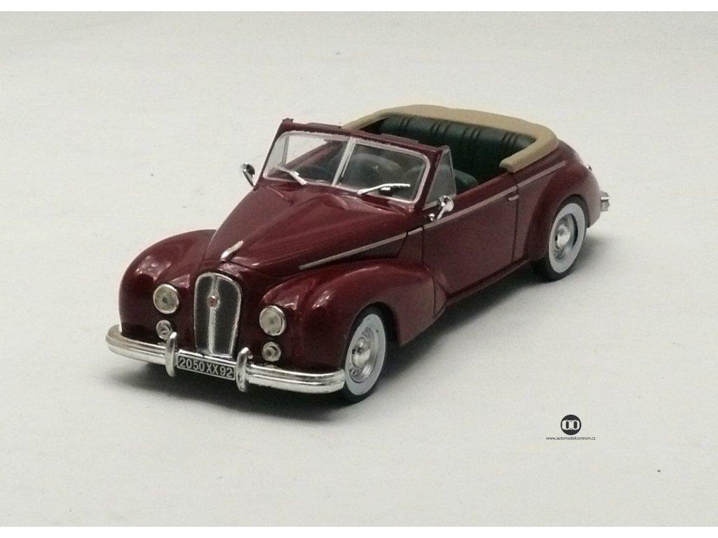 Hotchkiss Anthéor Cabriolet 1953 vínová 1:43 Champion