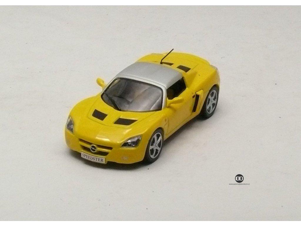 Opel Speedster žlutá - stříbrná střecha 1:43 Champion