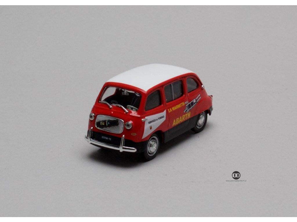Fiat 750 Multipla - Abarth 1960 červená 1:43 Champion