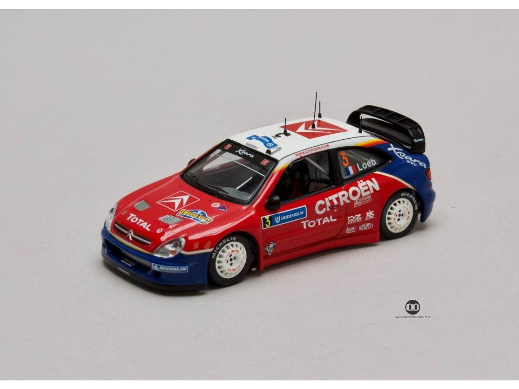 Citroen Xsara WRC #3 vítěz Rally Sweden 2004 1:43 IXO