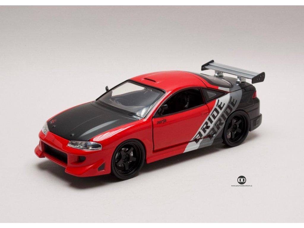 Mitsubishi Eclipse 1995 červeno-černá 1:24 Jada Toys