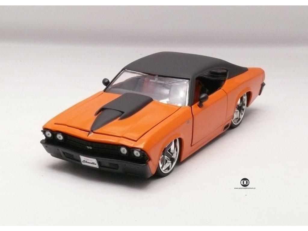 Chevrolet Chevelle SS 1969 oranžová 1:24 Jada Toys