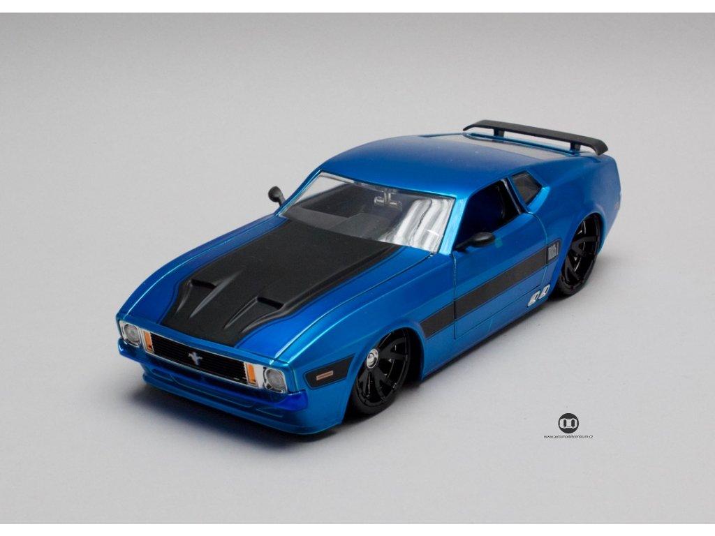 Ford Mustang Mach 1 1973 modrá 1-24 Jada Toys