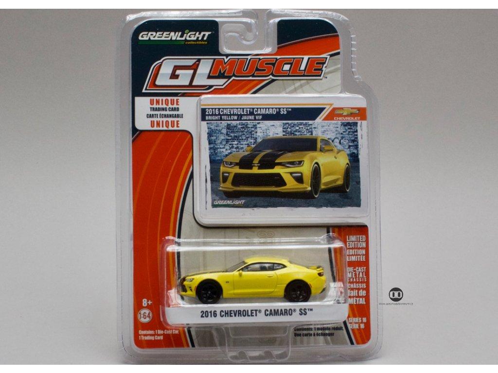 Chevrolet Camaro SS 2016 žlutá 1:64 Greenlight