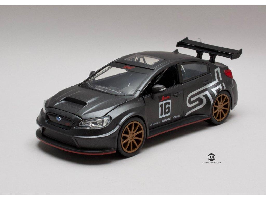Subaru WRX Sti 2016 JDM Tuners titan šedá 1:24 Jada Toys